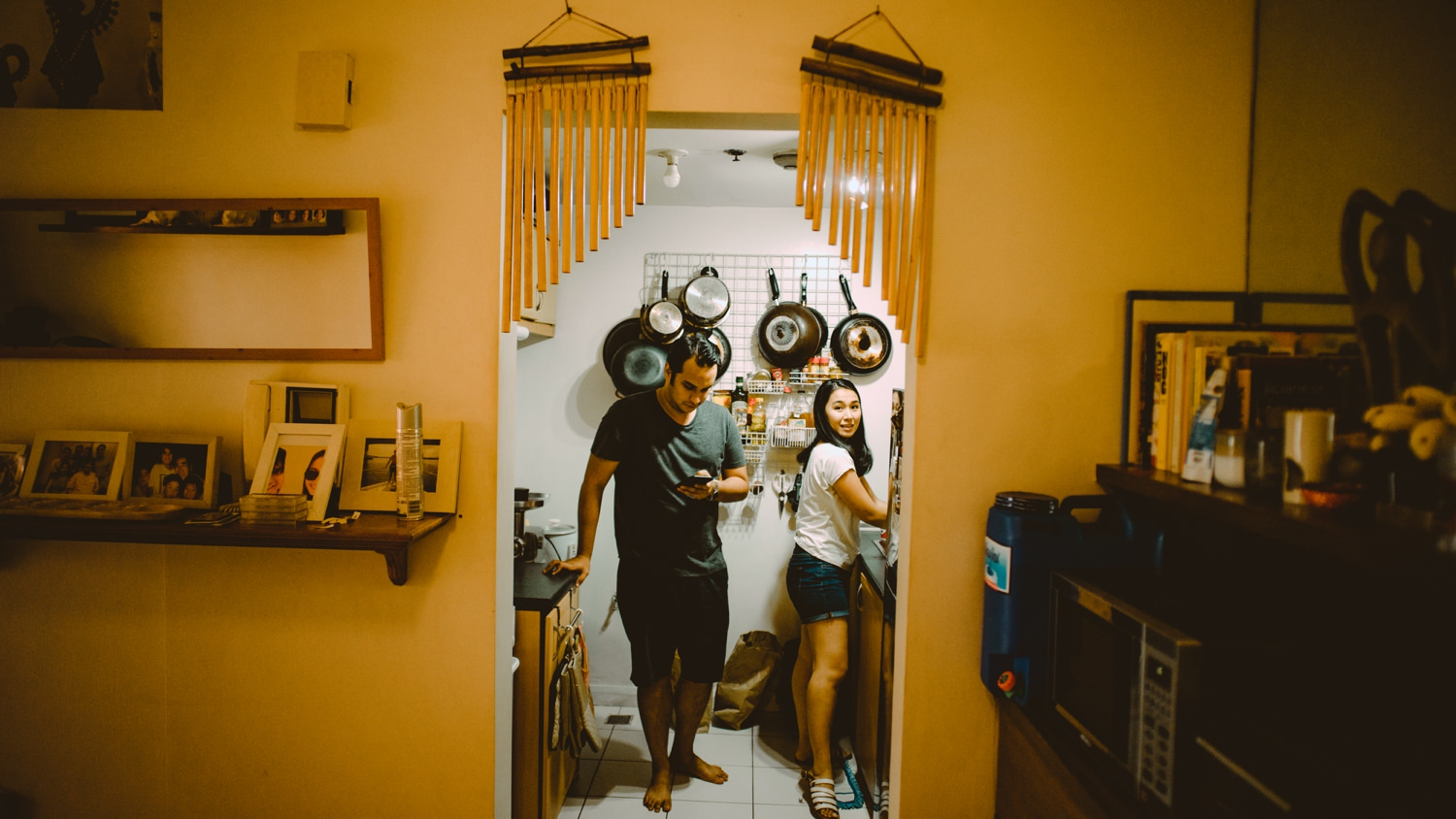 Arisa and Duqe - Oak St Studios - Intimate Home Engagement Session - Philippines