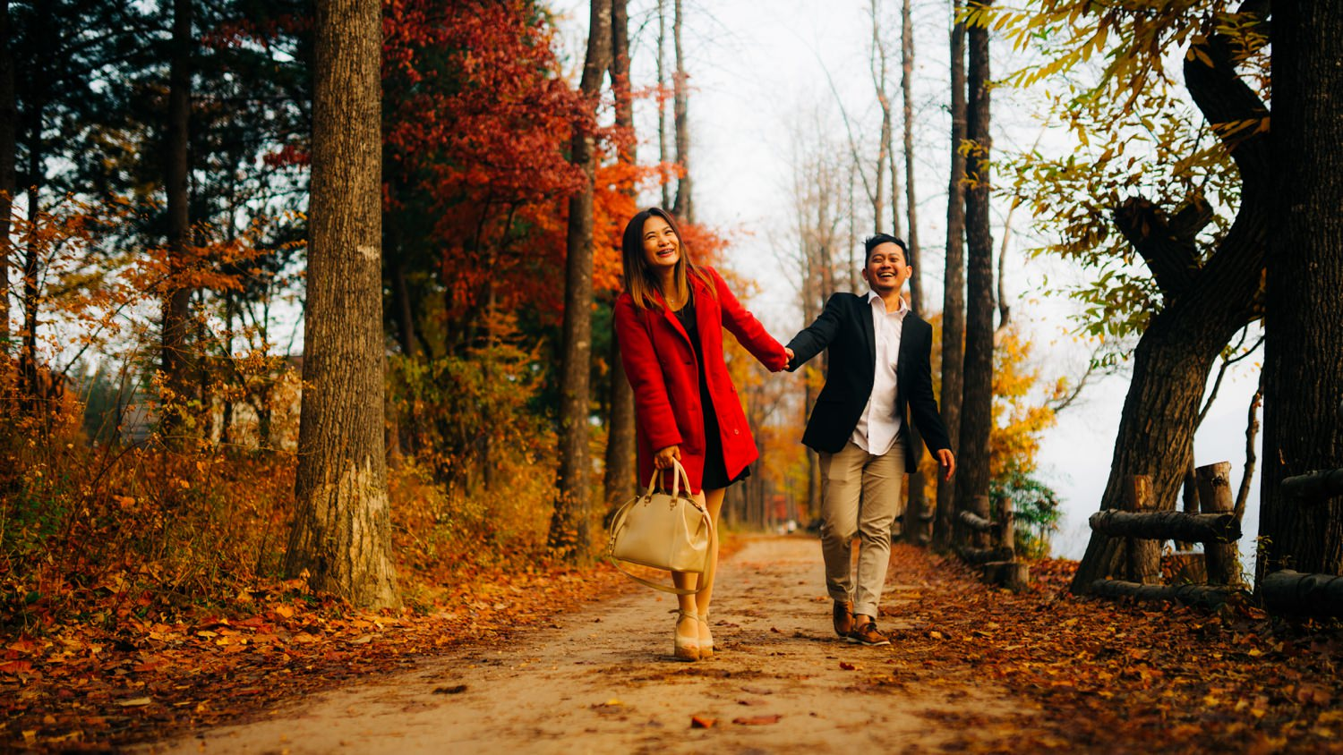 Oak St Studios - Kat and Mao Korea Autumn Engagement Prenup