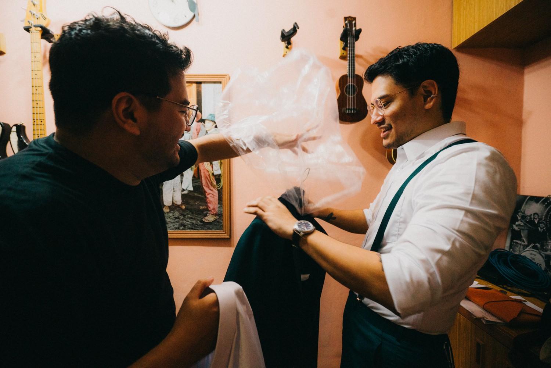 Oak St. Studios - Sandra and Sean Intimate Manila Wedding Photographer